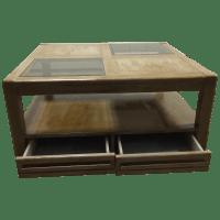 Vintage Square Coffee Table | Chairish