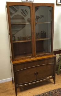 Mid-Century Modern Glass Door Cabinet | Chairish
