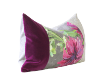 Purple and Gray Designer Down Pillow | Chairish