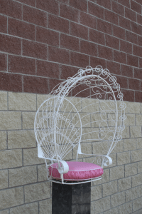 Vintage Metal Hanging Peacock Chair   Chairish