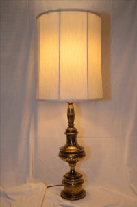 Brass Stiffel Table Lamp and Original Shade | Chairish