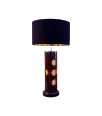 60's Funky Acrylic Base Table Lamp | Chairish