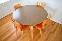 Mid-Century Thonet Bentwood Table & Chairs | Chairish