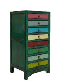Mid-Century Mutli-Color File Cabinet | Chairish