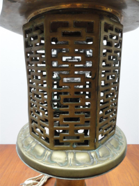 Mid-Century Chinese Style Solid Brass Table Lamp | Chairish