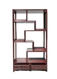Chinese Rosewood 8 Treasure Curio Display Cabinet | Chairish