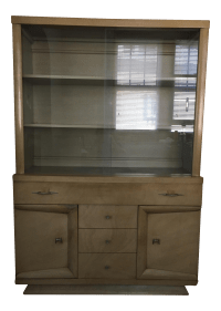 Vintage & Used Tan China and Display Cabinets