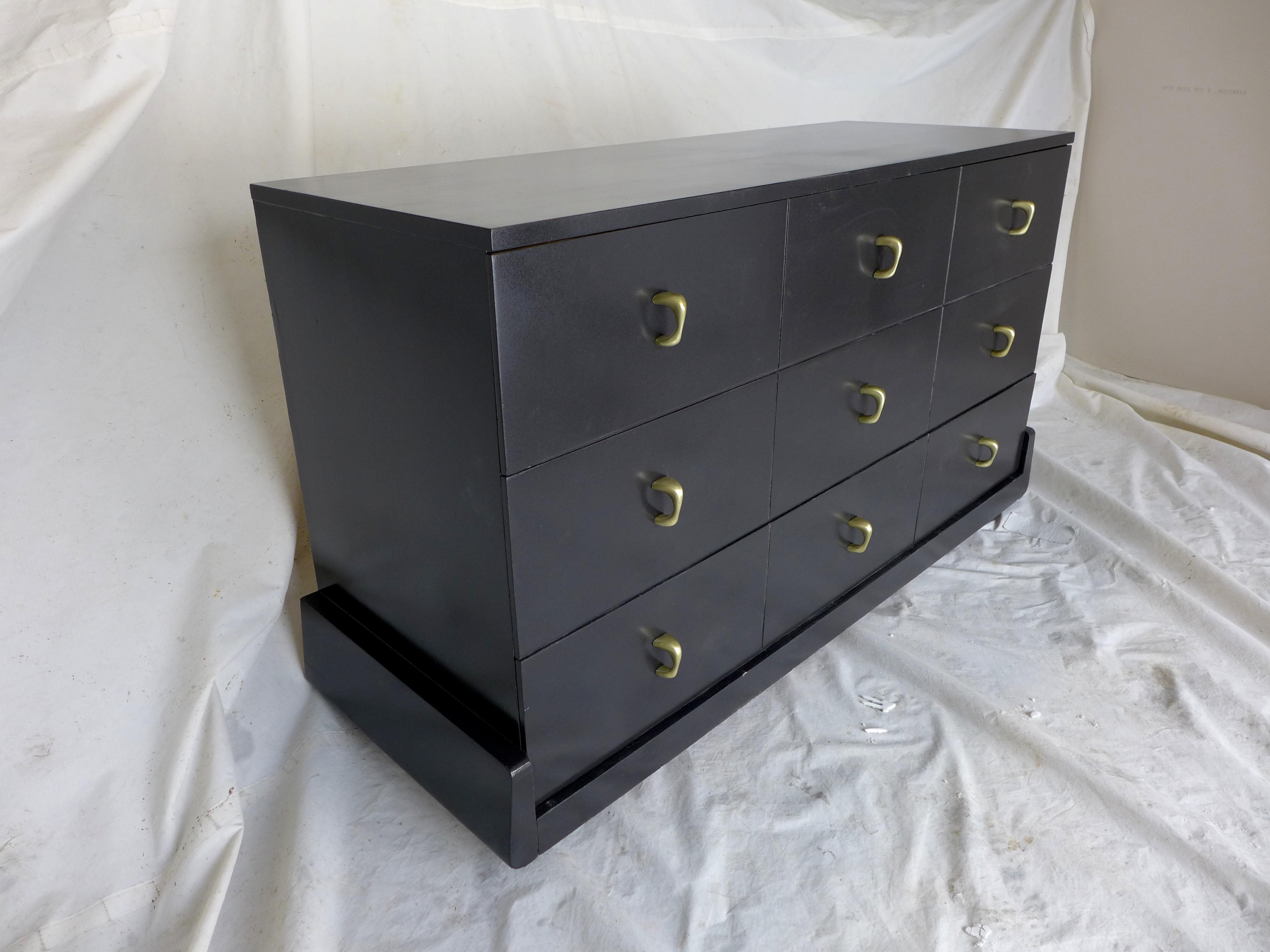 Dark Gray Dresser Mid-century Dark Gray Dresser | Chairish