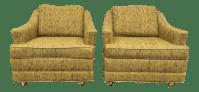 Kroehler Mid-Century Modern Lounge Chairs - A Pair | Chairish