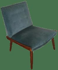 Mid-Century Modern Velvet Slipper Chair   Chairish