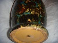 Danish Glazed Pottery Lamp Base | Chairish