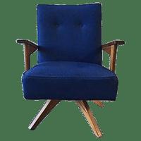 Mid-Century Rocker Swivel Chair | Chairish