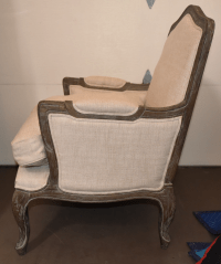 Restoration Hardware Belgian Linen & Wood Marseille Chairs ...