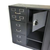 Vintage Cole Steel Filing Cabinet With Safe | Chairish