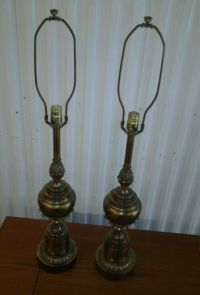 1960s Modern Stiffel Brass Table Lamps
