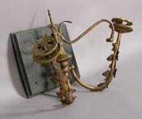 Victorian Brass Wall Sconces - A Pair | Chairish