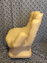Mid-Century Modern Plastic Resin Hand Chair | Chairish