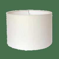 Off-White Linen Custom Drum Lamp Shade   Chairish