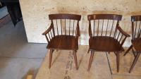 Mid-Century Cherry Dining Chairs- Set of 6 | Chairish