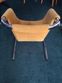 Mid-Century Modern Chrome Tubular Sling Chairs - Pair ...
