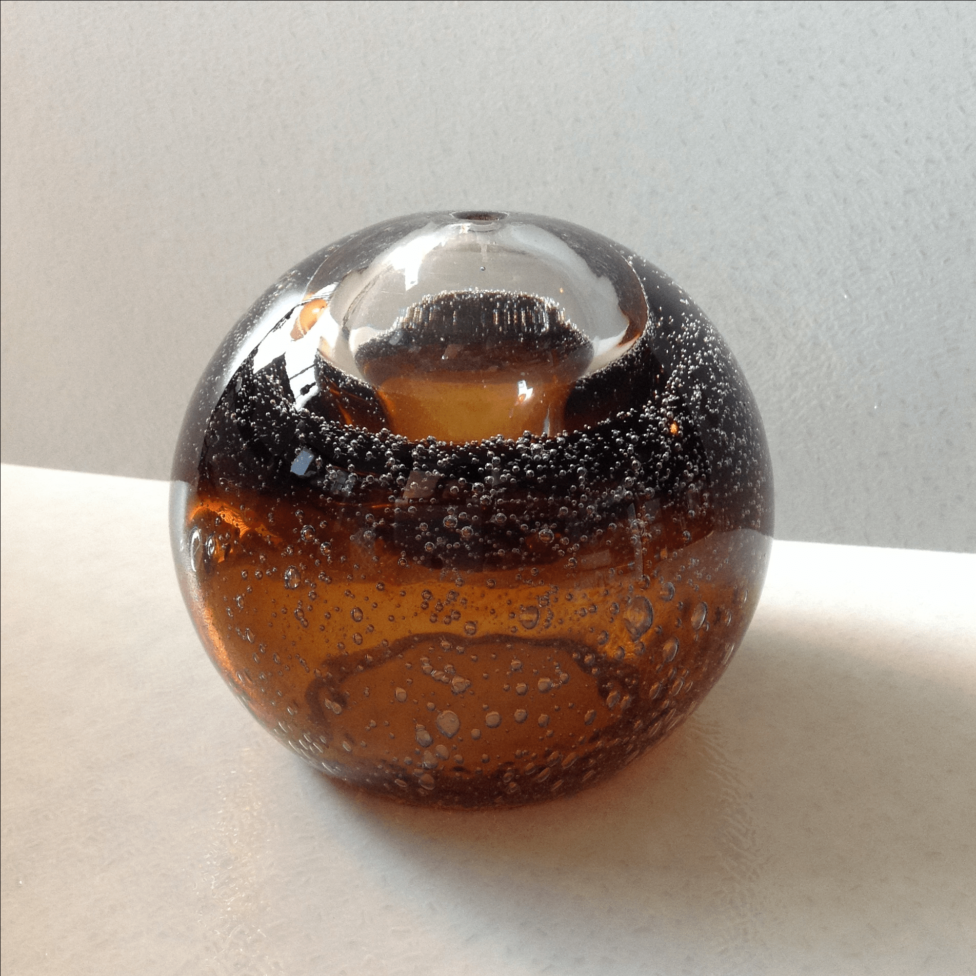 Hand Blown Art Glass Oil Lamp Chairish - Hand Blown Glass Lamp