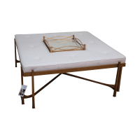 Jonathan Charles Eglomise/Gilded Iron Coffee Table | Chairish