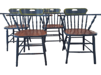 Captain's Dining Chairs- Set of 4 | Chairish