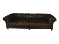 Restoration Hardware Leather Kensington Sofa | Chairish