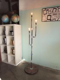 Industrial Steampunk Floor Lamp | Chairish