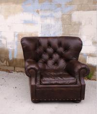 Restoration Hardware Churchill Chair & Ottoman | Chairish