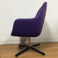 Purple Knoll Swivel Chair | Chairish