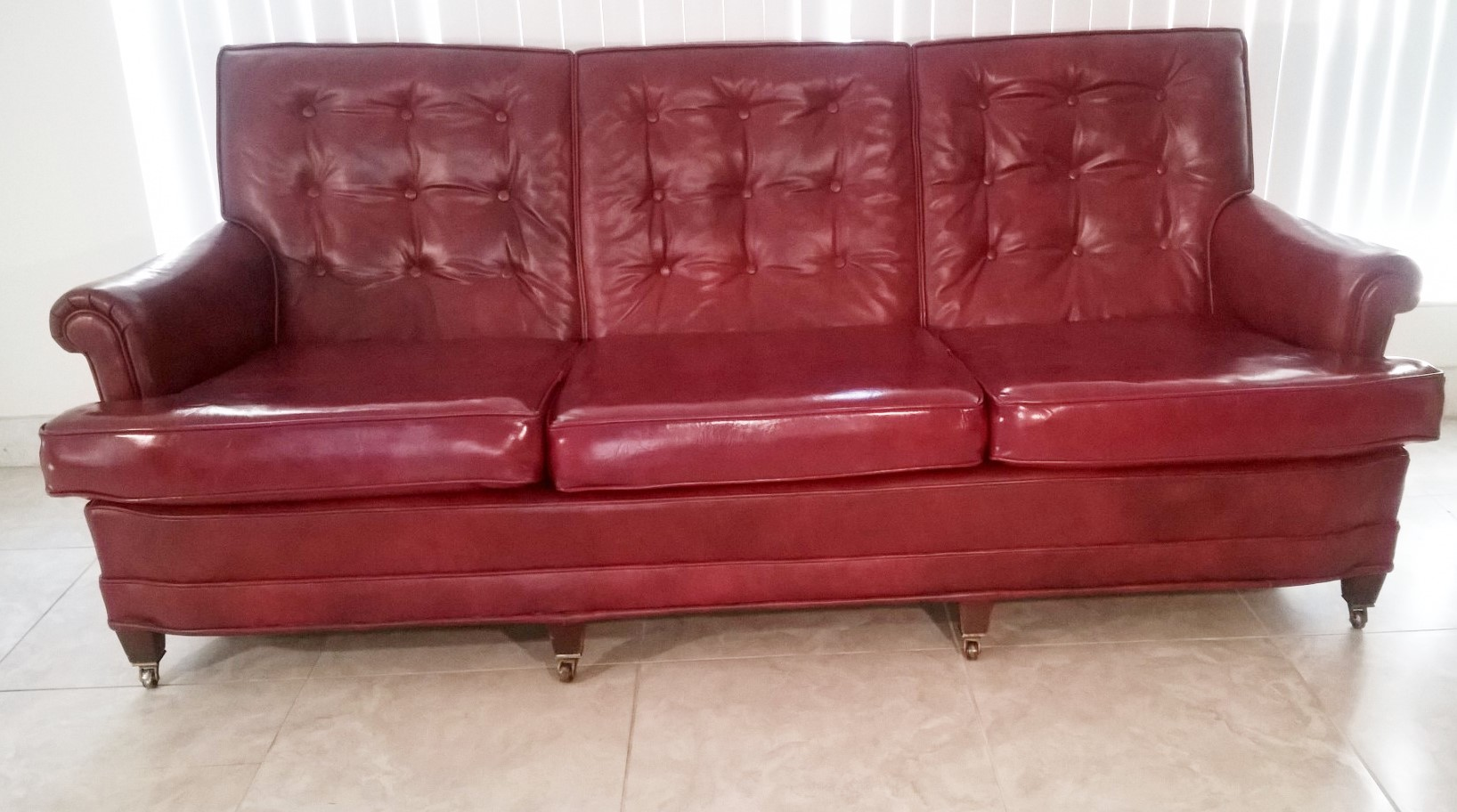 Retro Orange Vinyl Sofa Vintage Red Vinyl Sofa Vintage Vinyl Sofa Sleepers For In