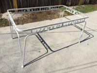 Mid-Century Modern Wrought Iron Patio Set with Table and 6 ...