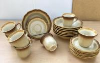 50-Piece Mikasa Whole Wheat Jardiniere Dinnerware | Chairish