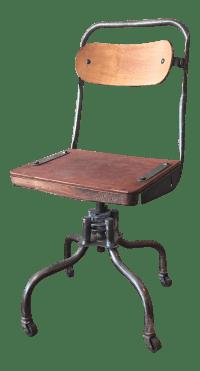 Vintage Industrial Machinist Desk Chair | Chairish