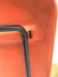 Knoll Bertoia Fiberglass Side Chair Red-Orange | Chairish