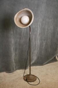 Vintage Industrial Steampunk Floor Lamp | Chairish