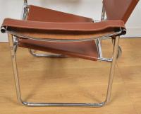 Mid-Century Chrome & Leather Lounge Chair | Chairish