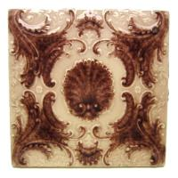 Victorian Minton Hollins Shell Fireplace Surround Tiles ...
