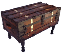 Antique Steamer Trunk/Coffee Table | Chairish