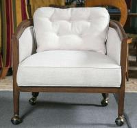 Mid-Century Club Chairs on Casters - A Pair | Chairish
