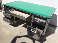 Vintage All Steel Furniture Co. Tanker Desk | Chairish