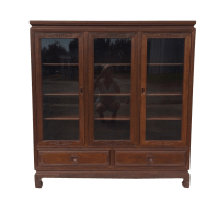 Asian Style Hand-Carved Rosewood Curio Cabinet | Chairish