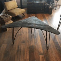 Mid-Century Atomic Boomerang Desk Corner Table | Chairish