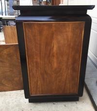 Chin Hua Century Furniture Rolling Bar Cabinet | Chairish