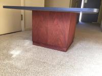 Mid-Century Modern Slate Top Coffee Table | Chairish