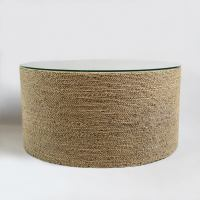 Round Seagrass Rope Coffee Table | Chairish