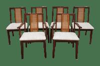 Mid-Century Hibriten Cane Back Chairs - Set of 6 | Chairish