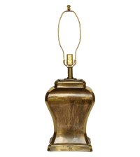 Etched Brass Ginger Jar Table Lamp | Chairish