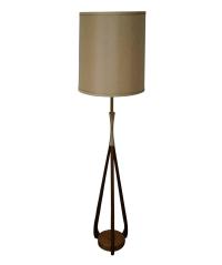 Mid-Century Danish Modern Walnut Table Lamp | Chairish